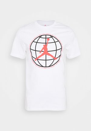 MOUNTAINSIDE CREW - Print T-shirt - white