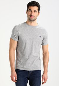 Timberland - CREW CHEST - T-shirt basic - grey heather - 0