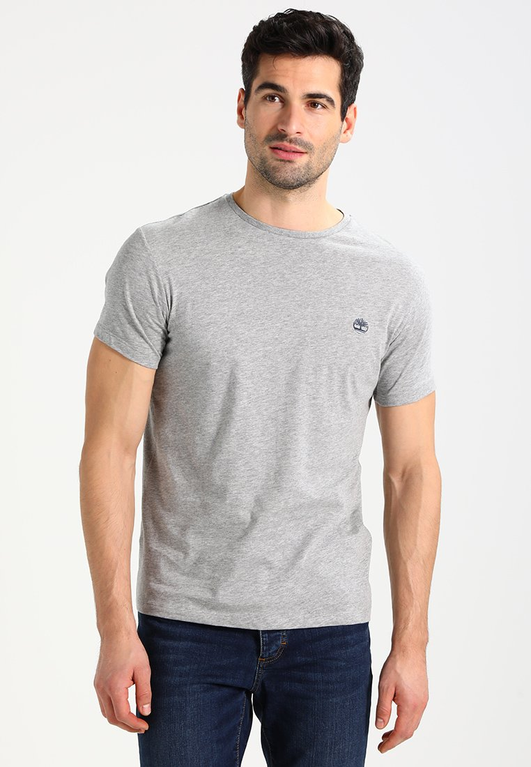 Timberland - CREW CHEST - T-shirt basic - grey heather