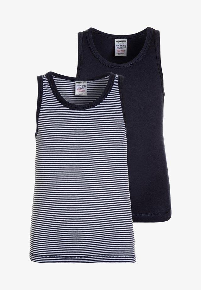 BOYS 2 PACK - Unterhemd/-shirt - dark blue
