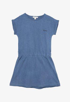 Jersey dress - petrol blue/gray