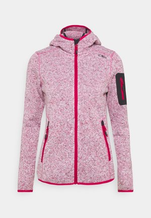 WOMAN FIX HOOD JACKET - Fleecejakke - granita
