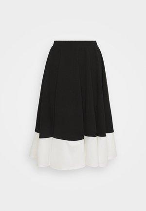 CHARLIE CONTRAST SKATER SKIRT - Áčková sukně - black/white