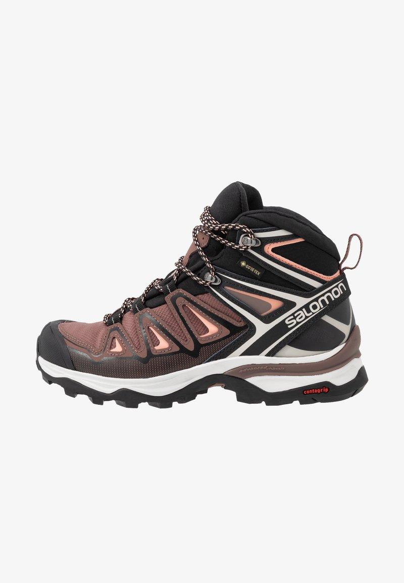 Salomon - X ULTRA 3 MID GTX  - Hiking shoes - peppercorn/black/coral almond