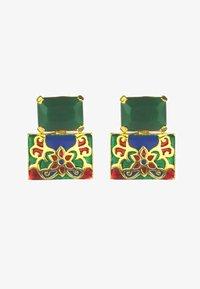 Bombay Sunset - Earrings - green - 1