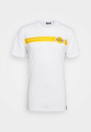 NBA LOS ANGELES LAKERS TEAM LOGO TEE - Klubbkläder - white