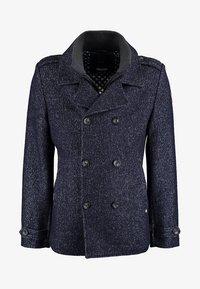 DNR Jackets - MIT DOPPELTER KNOPFLEISTE UND STEHKRAGEN - Light jacket - mottled dark blue - 0