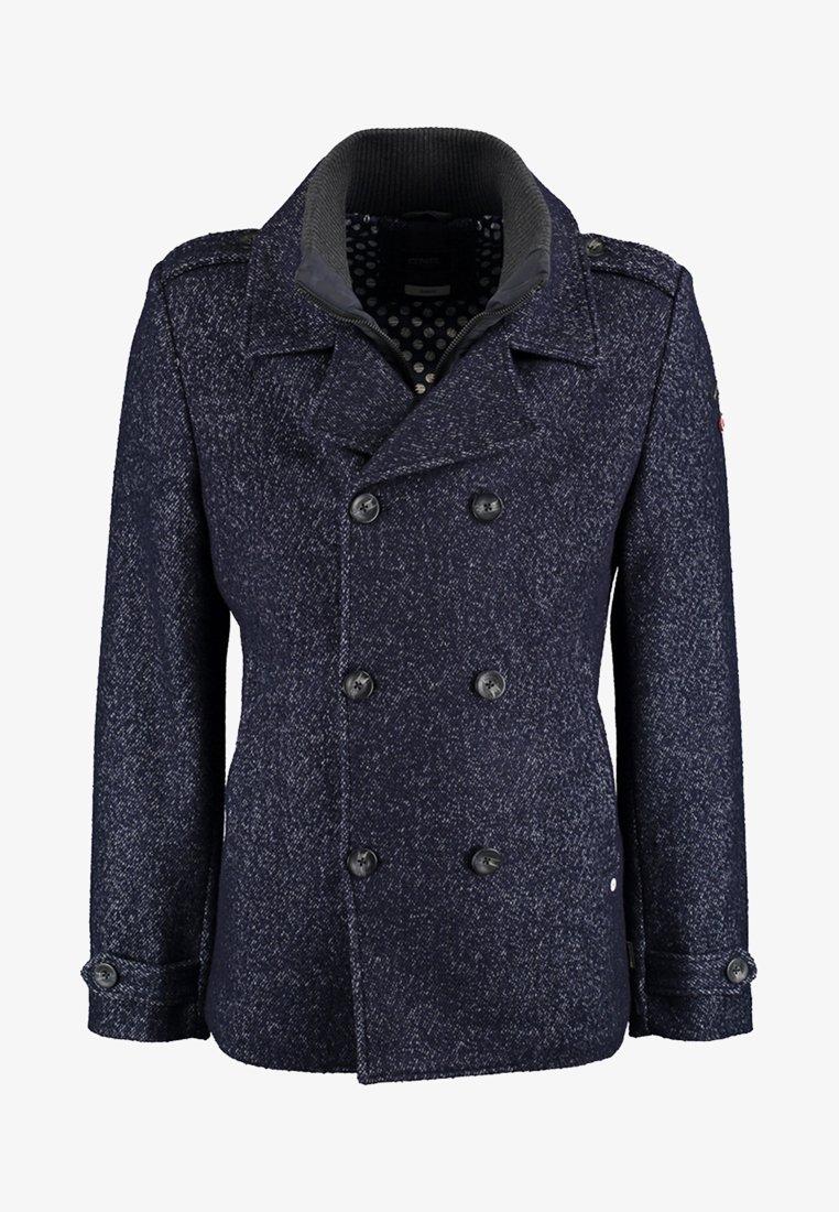 DNR Jackets - MIT DOPPELTER KNOPFLEISTE UND STEHKRAGEN - Light jacket - mottled dark blue