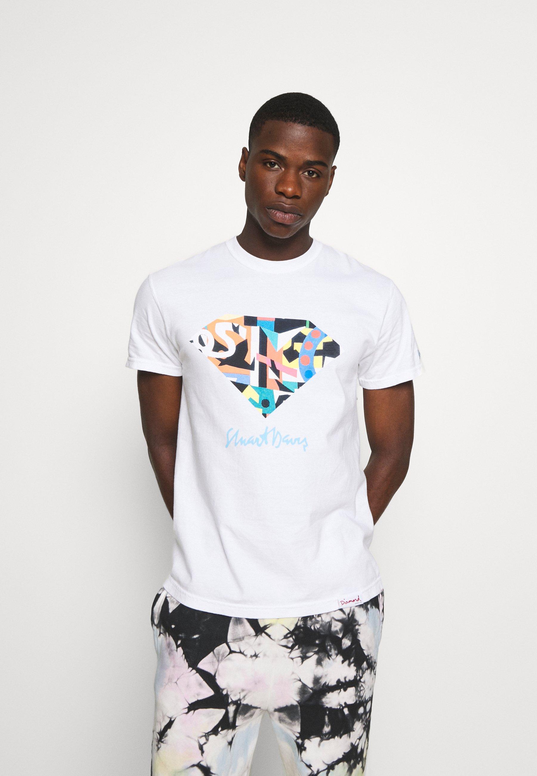 Men STUART DIAMOND TEE - Print T-shirt