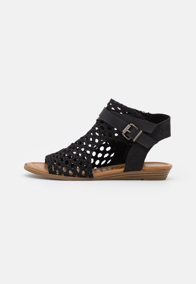 VEGAN BALLA - Ankle cuff sandals - black