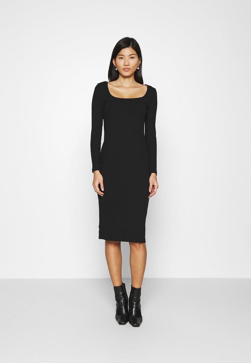 GAP - SQUARENECK DRESS - Jumper dress - true black