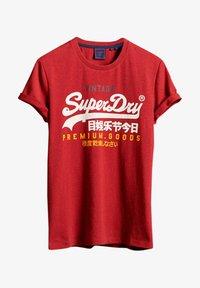 Superdry - Print T-shirt - chilli pepper marl - 0