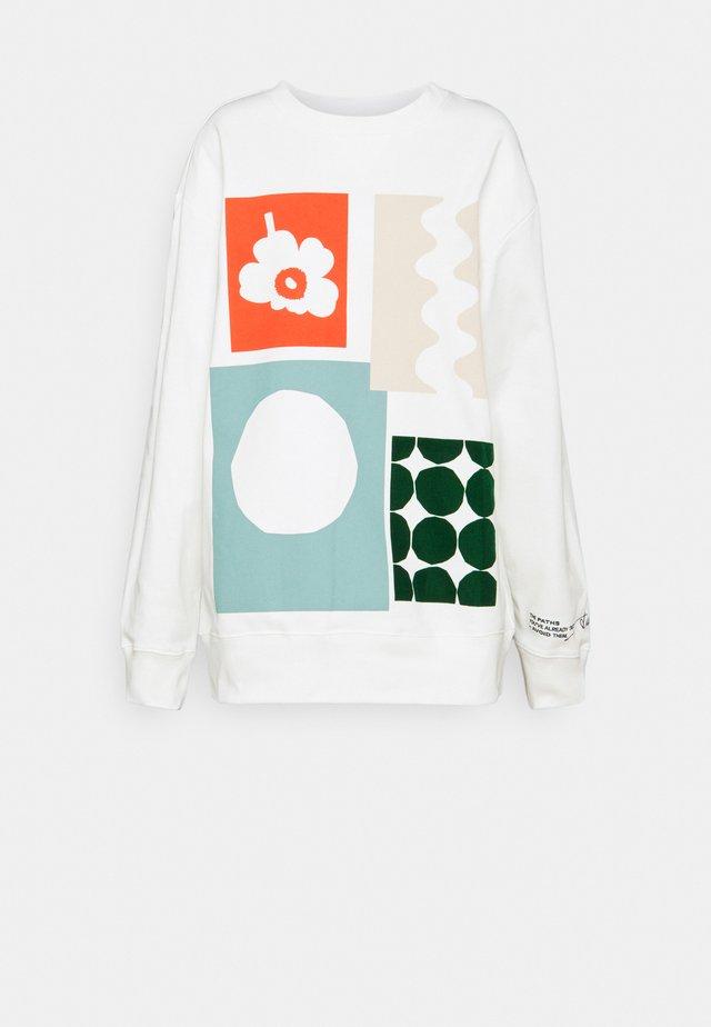 CO CREATED  - Top sdlouhým rukávem - white multicolored