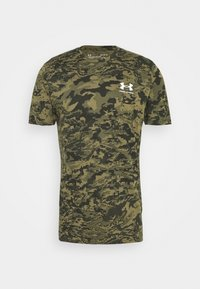 Under Armour - CAMO - T-shirt print - black/khaki - 4
