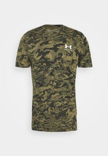 CAMO - T-shirts med print - black/khaki