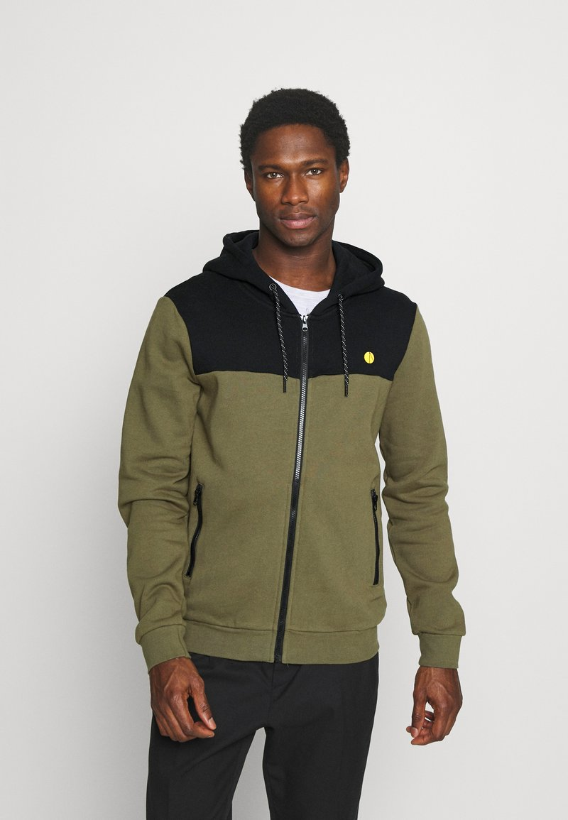 Pier One - Zip-up hoodie - olive
