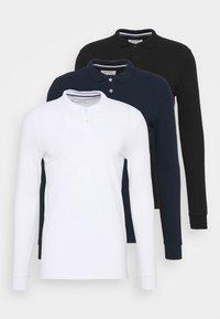 3 PACK - Polo shirt - dark blue/white/black