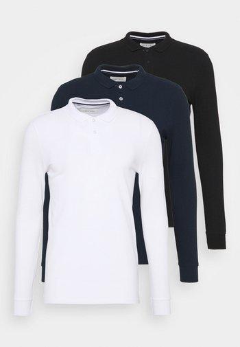3 PACK - Polo - dark blue/white/black