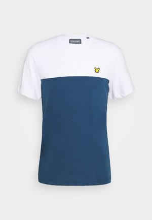 VENTURE COLOUR BLOCKTEE - Print T-shirt - aegean blue