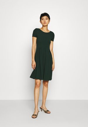 BASIC MINI DRESS - Jersey dress - green