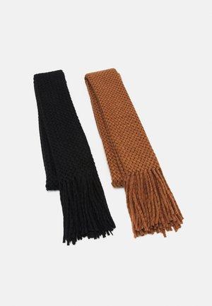 2 PACK - Scarf - camel/black