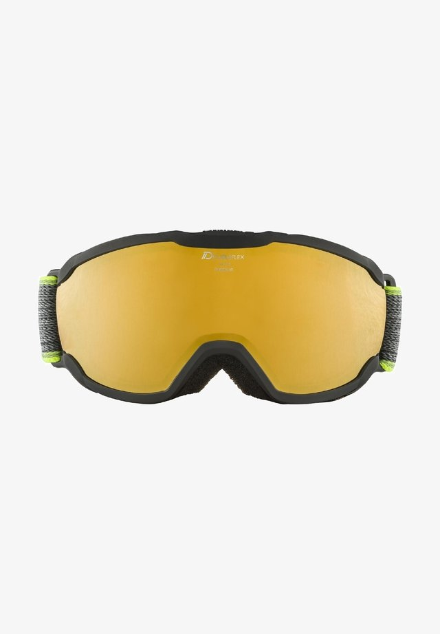 PHEOS JR. HM - Masque de ski - black-neon yellow