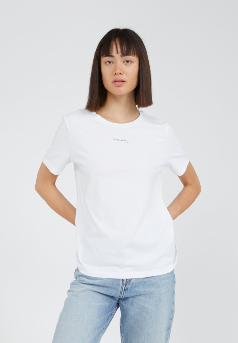 ARMEDANGELS - MARAA ABOUT NOW - Print T-shirt - white