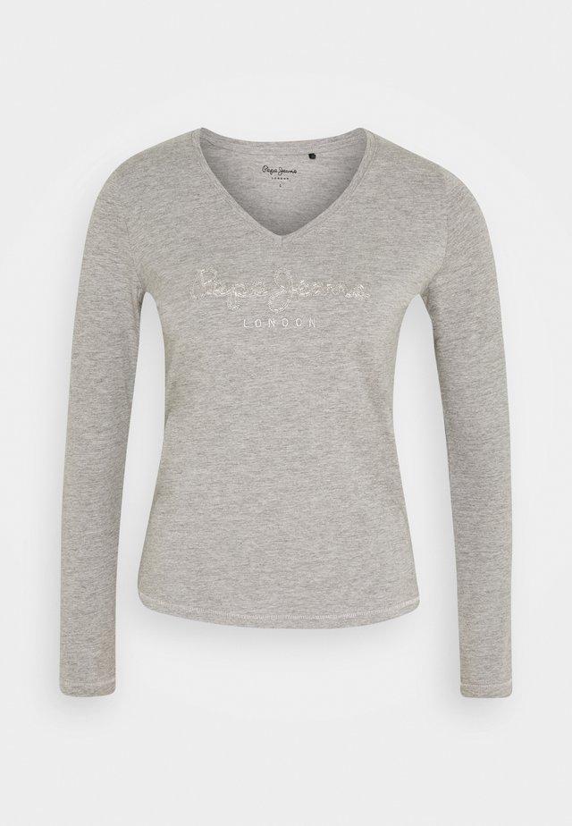 DITA - Bluzka z długim rękawem - grey marl