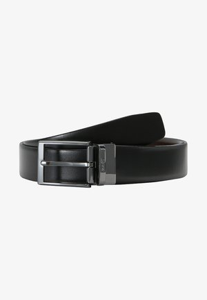 GUTEL BUSINESS - Belt business - black/brown