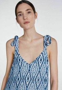 SET - MIT TIE-DYE PRINT - Maxi dress - white blue - 4