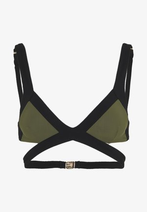 MAZZY - Bikini top - black/khaki