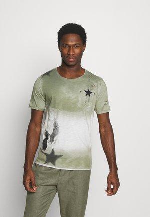 NASHVILLE ROUND - Print T-shirt - dark green