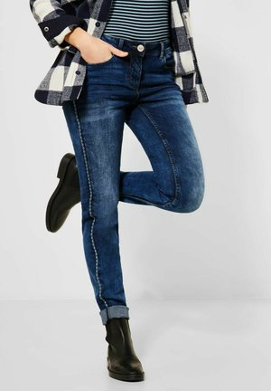 MIT GALON - Slim fit jeans - blau