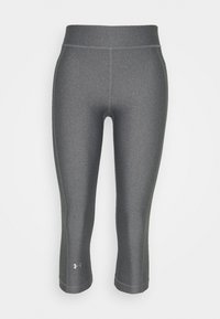 Under Armour - HEATGEAR CAPRI - Pantalon 3/4 de sport - charcoal light heather - 3