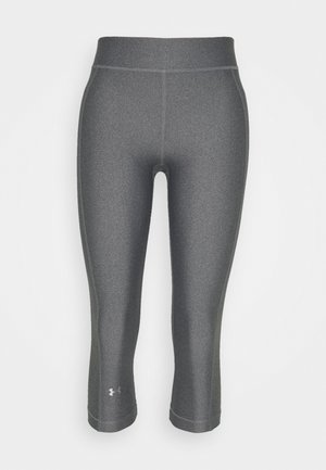 HEATGEAR CAPRI - Pantalón 3/4 de deporte - charcoal light heather