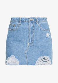 Missguided Petite - MINI SKIRT - Denim skirt - blue - 3