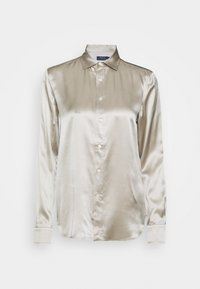 Button-down blouse - taupe grey