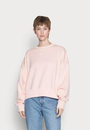 Sweatshirt - pale coral/white