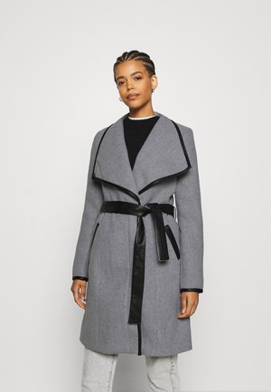 VMWATERFALL CLASS - Classic coat - light grey melange/black