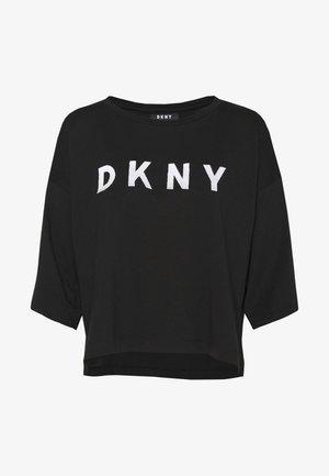 CROPPED OVERSIZED LOGO - T-shirts print - black/ivory