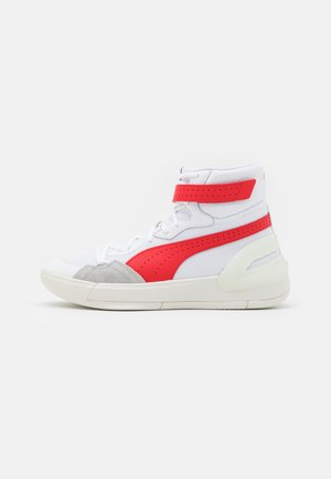 SKY MODERN - Basketball shoes - white/high risk red