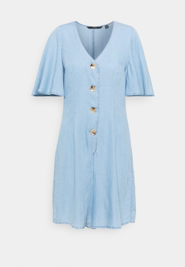 VMVIVIANA SHORT PLAYSUIT  - Jumpsuit - light blue denim