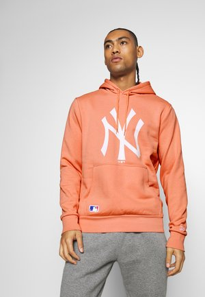 MLB SEASONAL TEAM LOGO HOODY NEW YORK YANKEES - Jersey con capucha - light pink