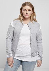 Urban Classics - Zip-up hoodie - grey white - 4