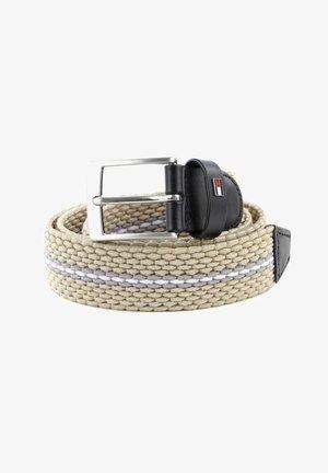 ADAN ELASTIC - Braided belt - beige grey white