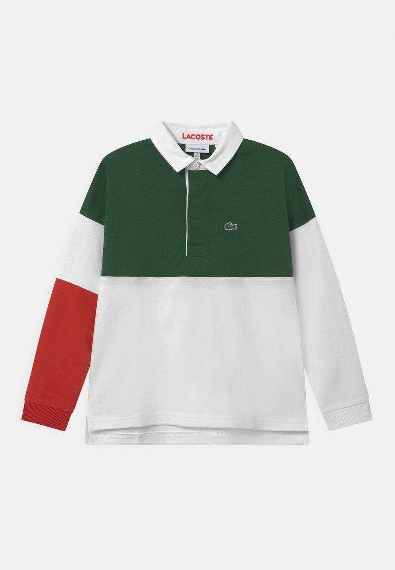 Lacoste - RUGBY  - Polo shirt - flour/cinnabar-green