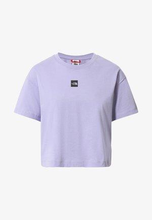 W CENTRAL LOGO CROP TEE - Print T-shirt - sweet lavender/tnf black