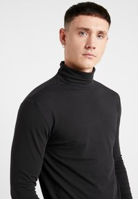 Only & Sons - ONSMICHAN SLIM ROLLNECK TEE - Top s dlouhým rukávem - black - 4
