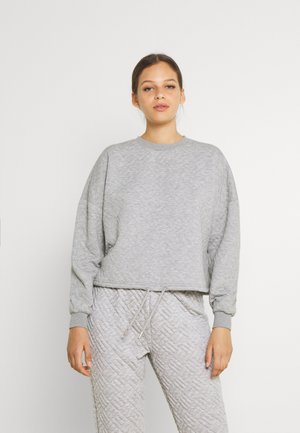ONLSQUARE STRING O NECK - Sweatshirt - light grey melange