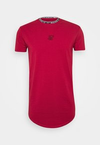 SIKSILK - INSET COLLAR GYM TEE - T-shirt print - red